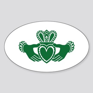 Celtic claddagh Sticker (Oval)